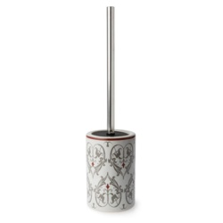 Blue Canyon Damask Toilet Brush Holder