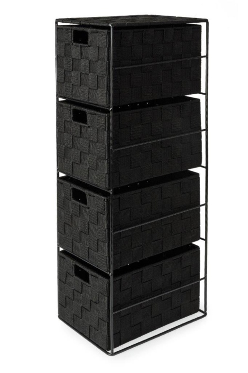 Blue Canyon Madrid 4 Drawer Cabinet - Black