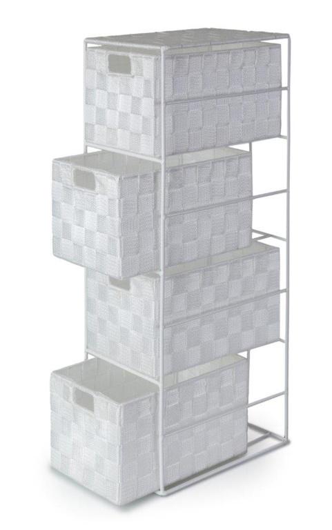 Blue Canyon Madrid 4 Drawer Cabinet - White