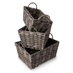 Blue Canyon York Storage Basket With Handle