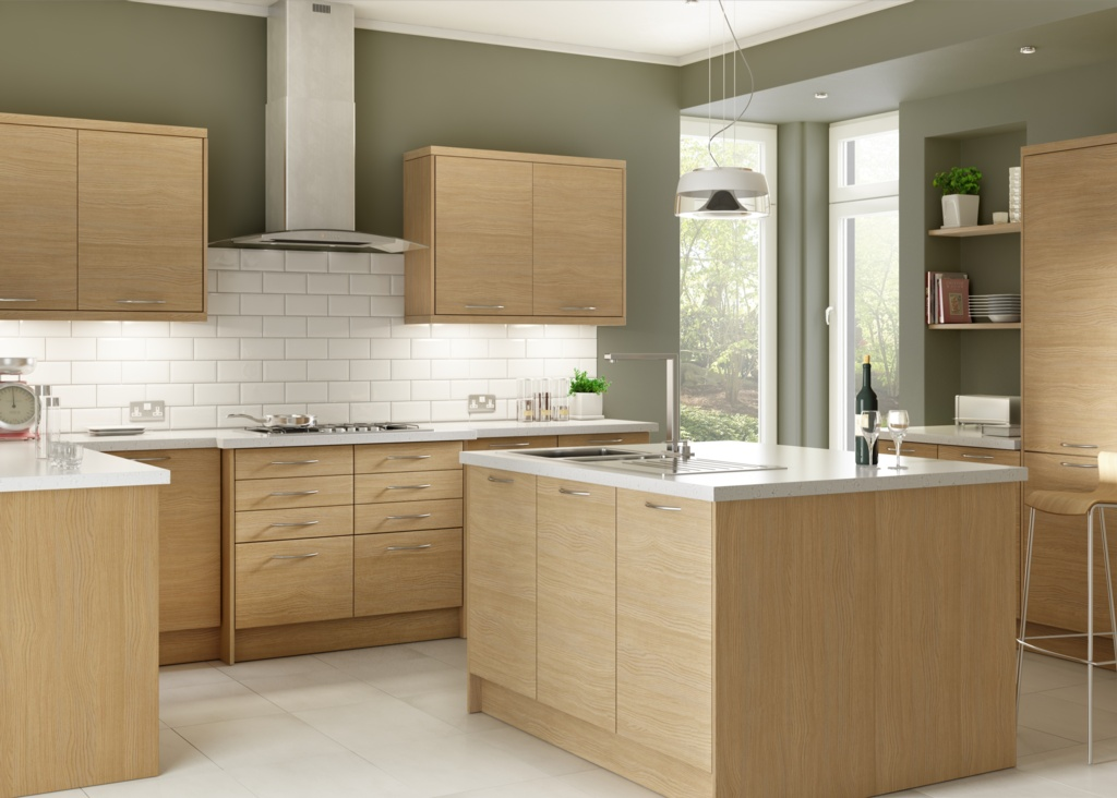 Gower Rapide+ Lisbon Oak Corner Base Unit - 1000mm