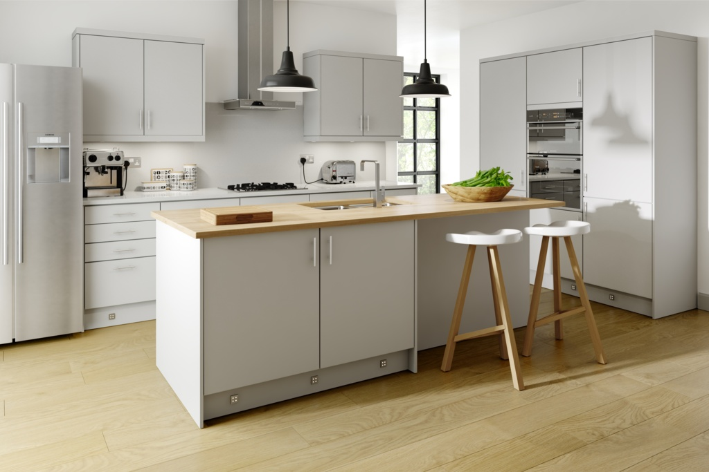 Gower Rapide+ Paris Matt Grey Base Unit - 600mm