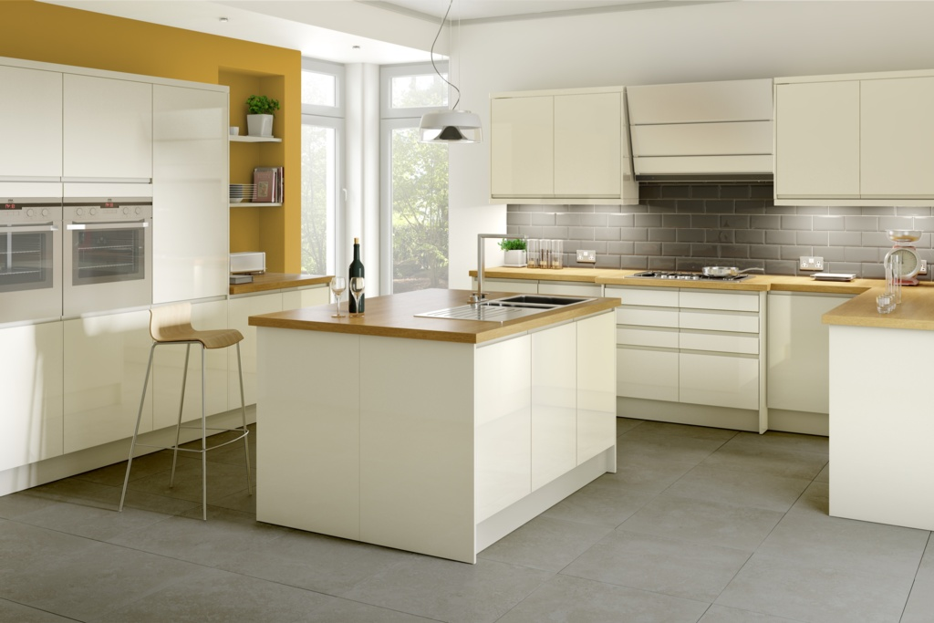 Gower Rapide+ Capri Cream Corner Base Unit - 1000mm