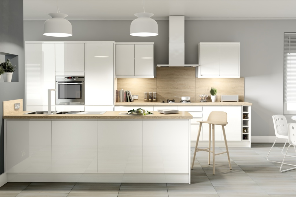 Gower Rapide+ Capri White Base Unit - 300mm