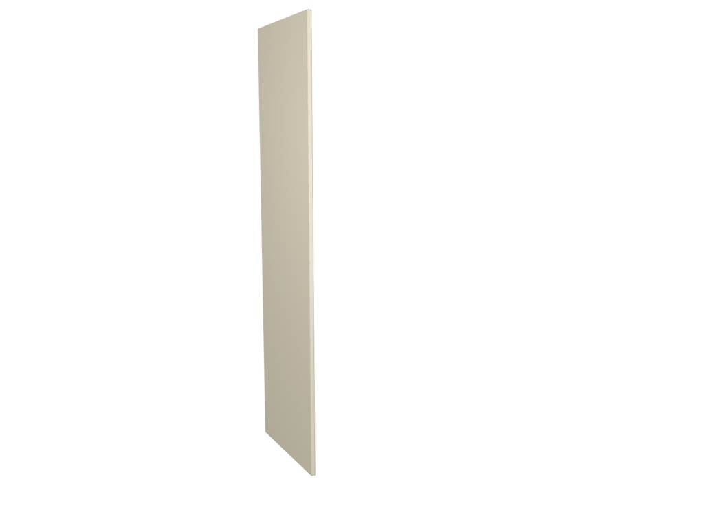 Gower Rapide+ Tall Clad Panel - Cream Gloss 2118x585x18mm