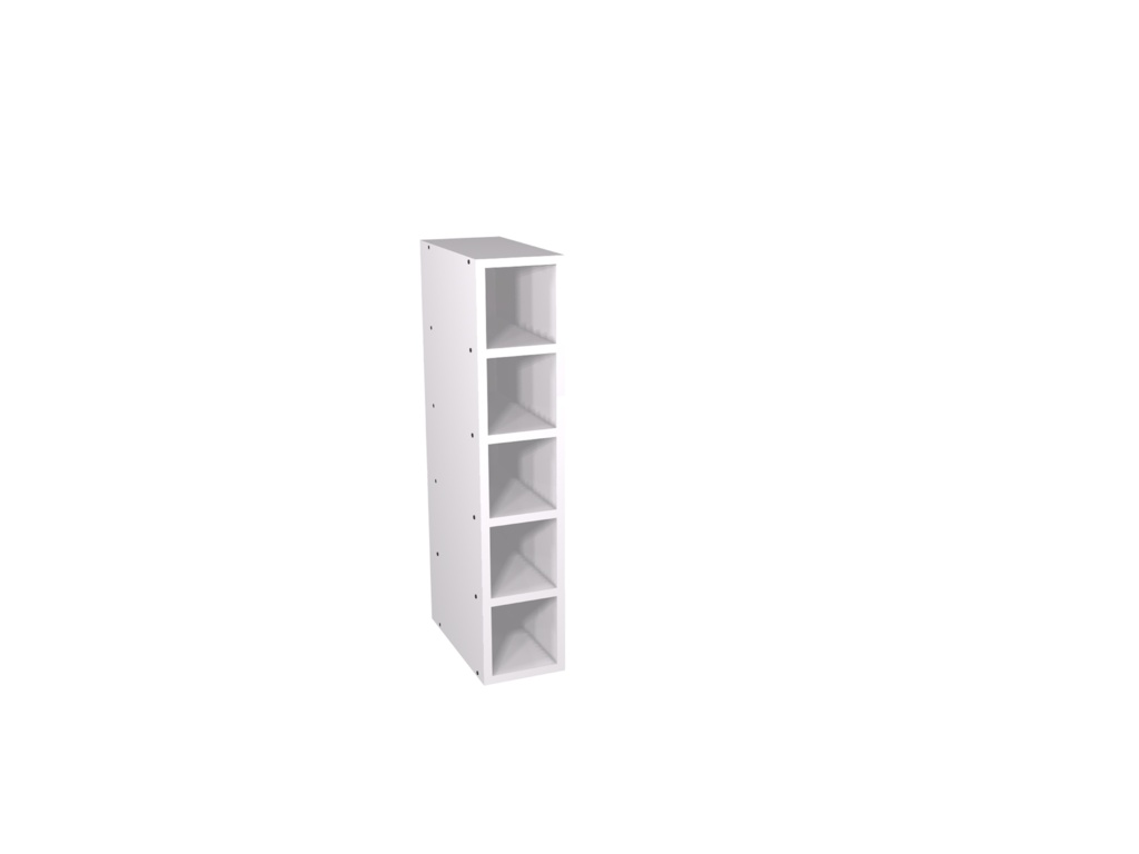 Gower Rapide+ Wine Rack 150mm - White Gloss