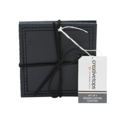 Creative Tops Bonded Leather Coasters