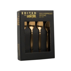 Creative Tops Espresso Spoons Brushed Gold