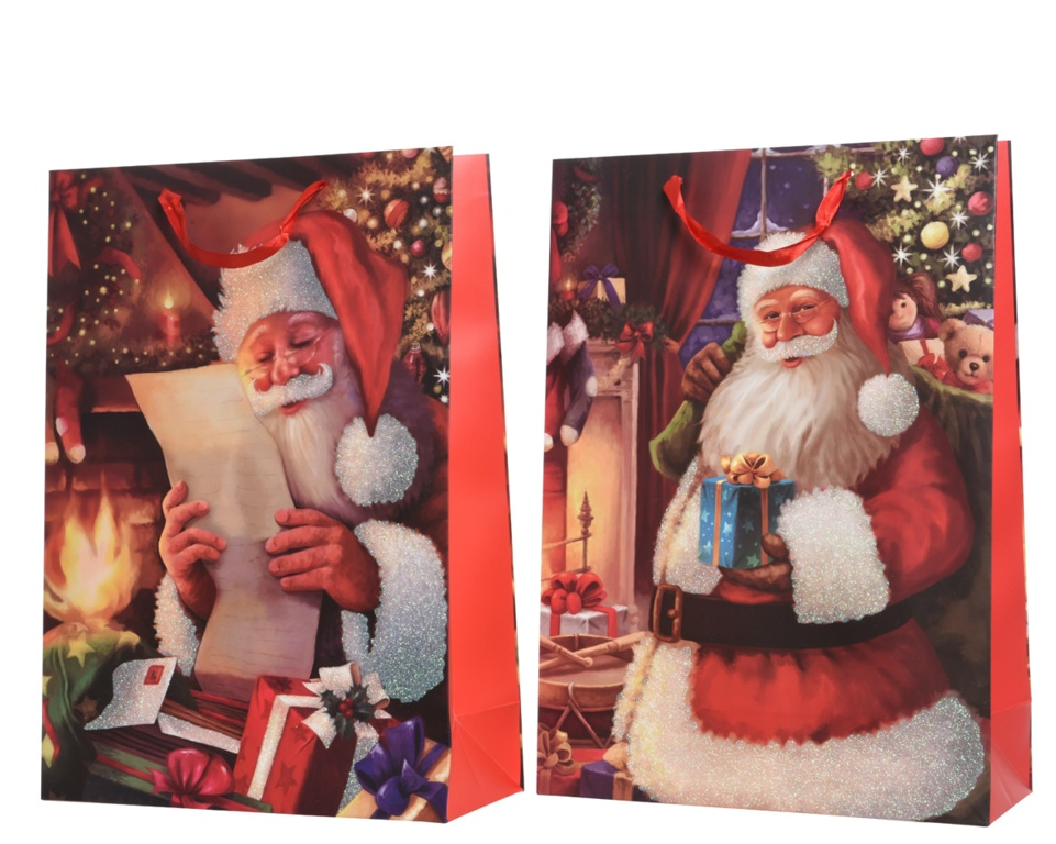 Kaemingk Reading Santa Gift Bag