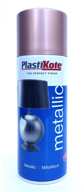 PlastiKote Metallic Paint - 400ml Rose Gold
