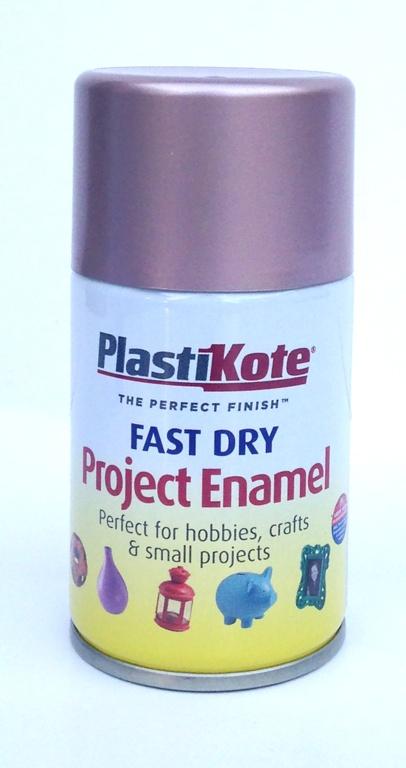 PlastiKote Fast Dry Enamel Aerosol Paint - Rose Gold 100ml