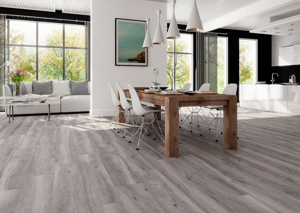 Halcon Baltimore Porcelain Wood Effect Tile 1.27m2 - Grey