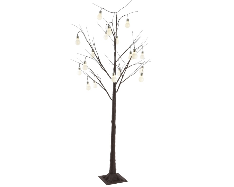 Kaemingk LED Tree Brown &Warm White - 12 LED