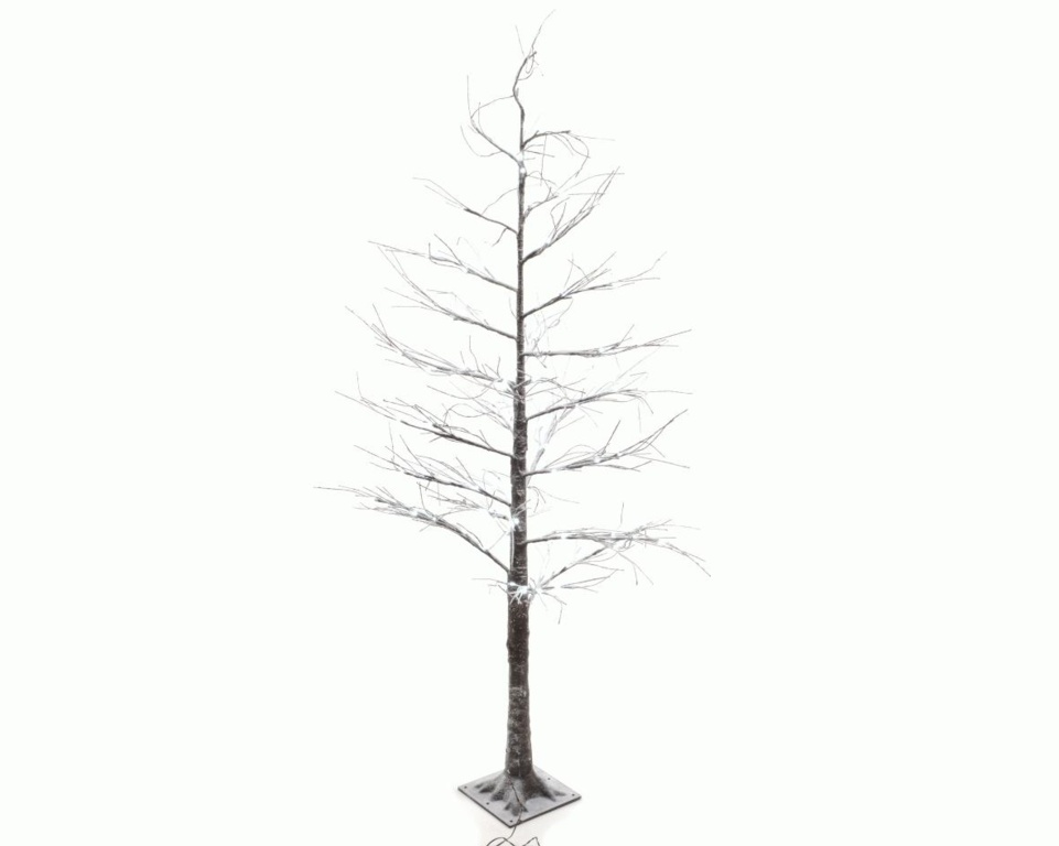 Kaemingk LED Tree With Snow - Brown / Cool White - 180cm - 96 Lights