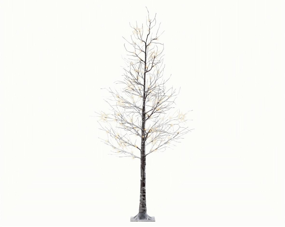 Kaemingk LED Tree With Snow - Brown / Warm White - 125cm - 48 Lights