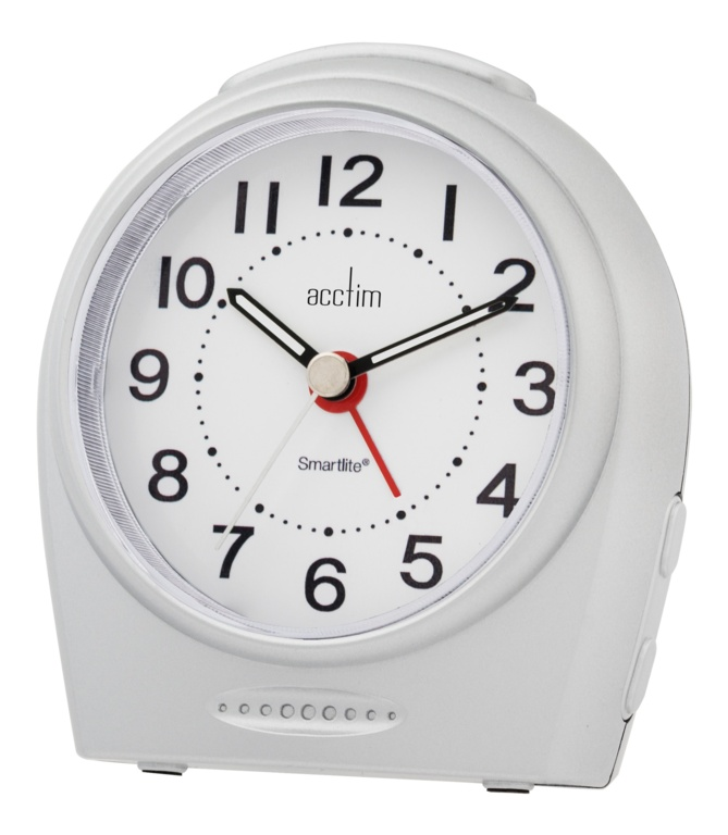 Acctim Astoria Smartlight Silent Sweep Alarm - Silver
