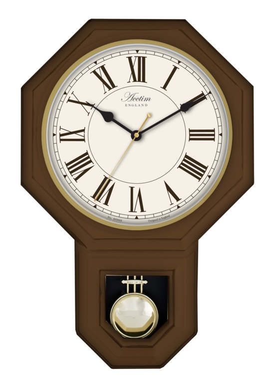 Acctim Woodstock Wall Clock - Dark Wood