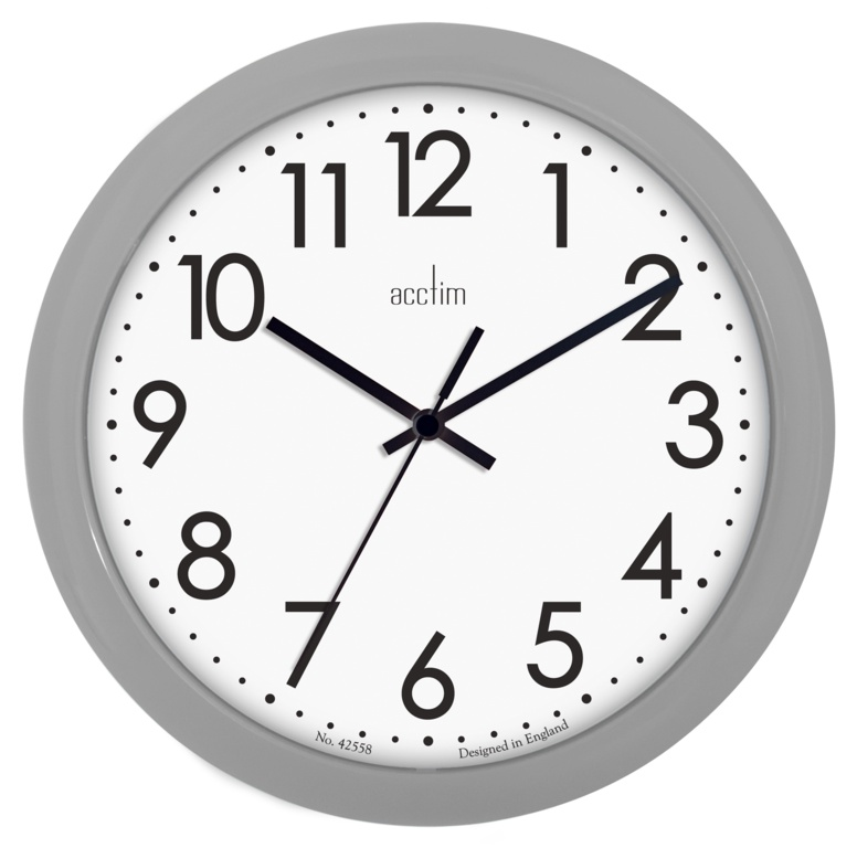 Acctim Abingdon Wall Clock 25|5cm - Grey
