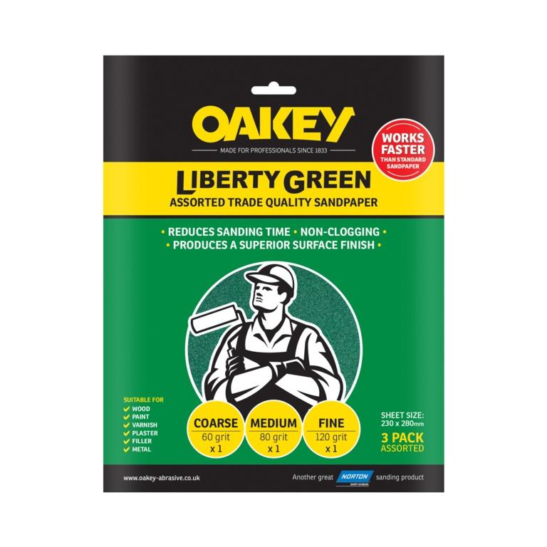 Oakey Liberty Green - 3 Sheets