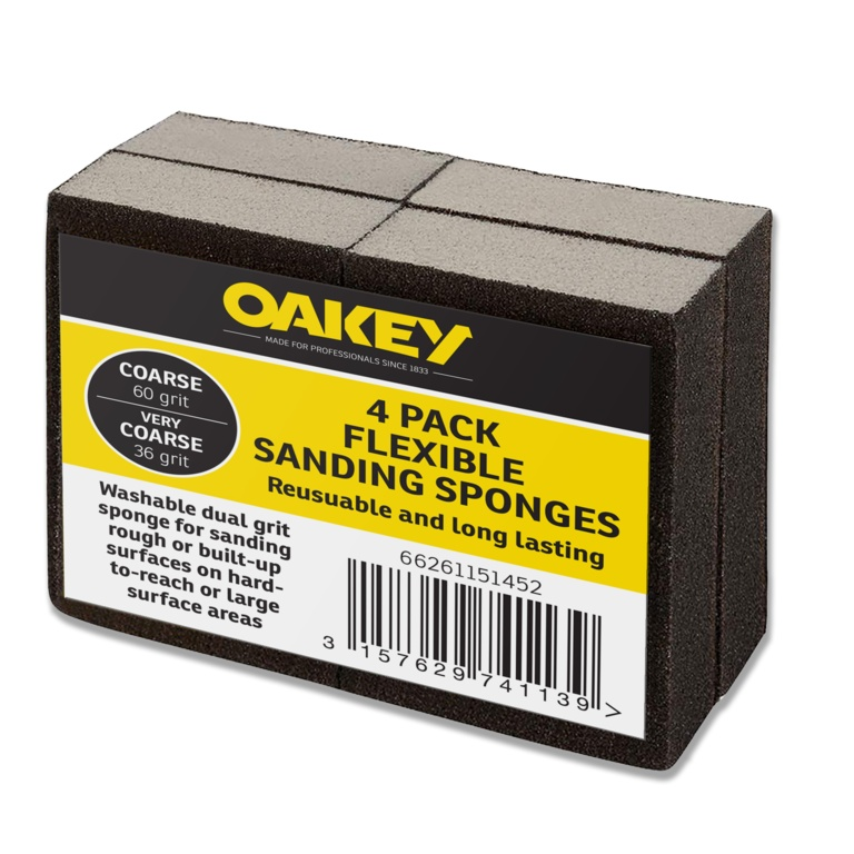 Oakey Liberty Green Flexible Sponges - Course 60g/Very Coarse 36g Pack 4