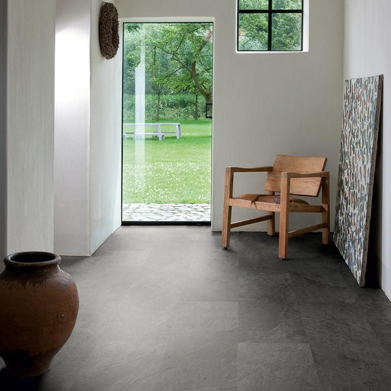Quickstep Livyn Ambient Flooring 2.08m2 - Black Slate Effect 1300mm x 320mm x 4.5mm