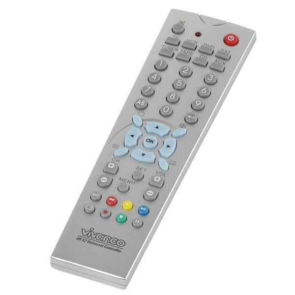 Vivanco 8 In 1 Universal Remote Control - Silver