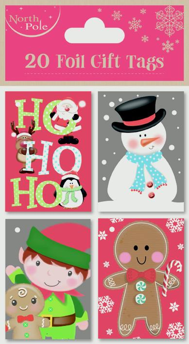 North Pole Cute Booklet Tags - 20 pack