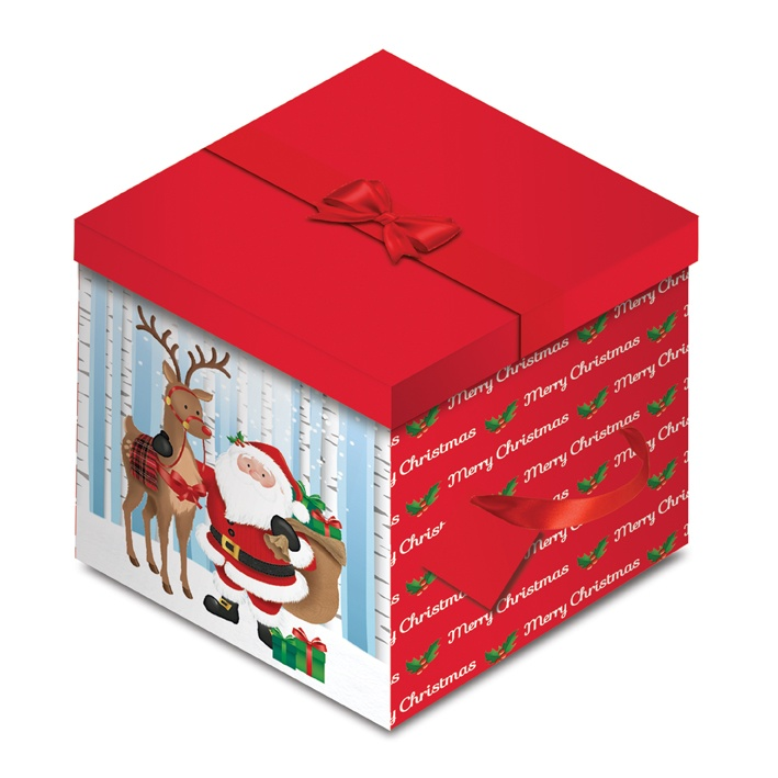 North Pole Santa Square Flat Box