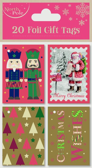 North Pole Mixed Booklet Tags - 20 pack