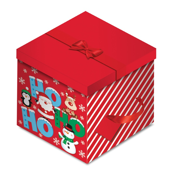 North Pole Hohoho Square Flat Box