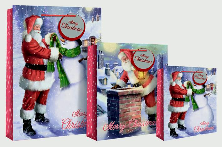 North Pole Santa Roof/ Snowman Medium Bag