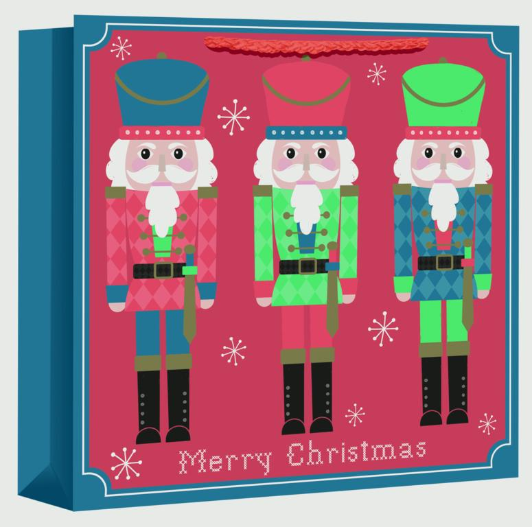 North Pole Nutcracker Square Jumbo Bag