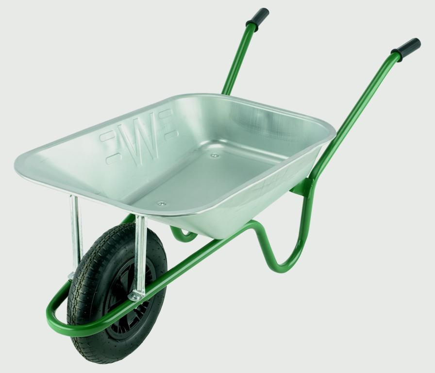 Walsall Wheelbarrow Galvanised Builders Wheelbarrow - 85L