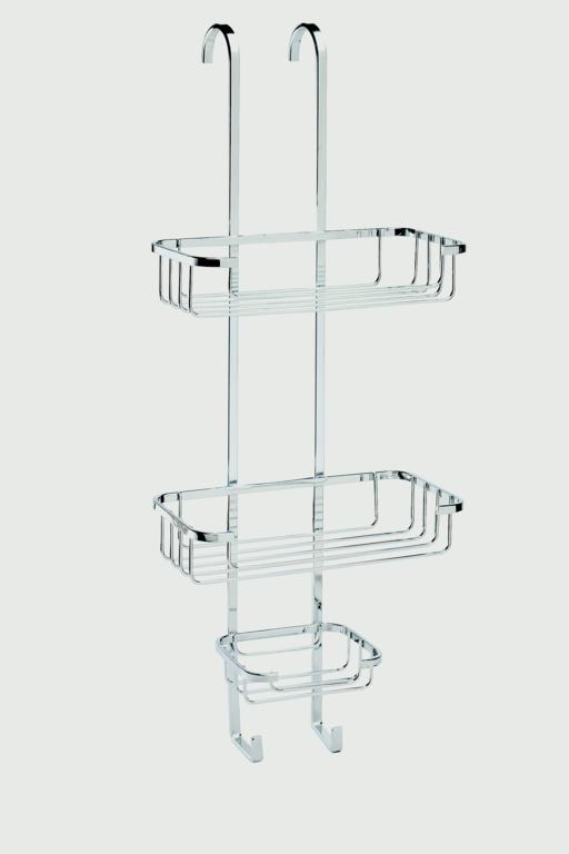 Croydex Hook Over Three Tier Basket - Mild Steel