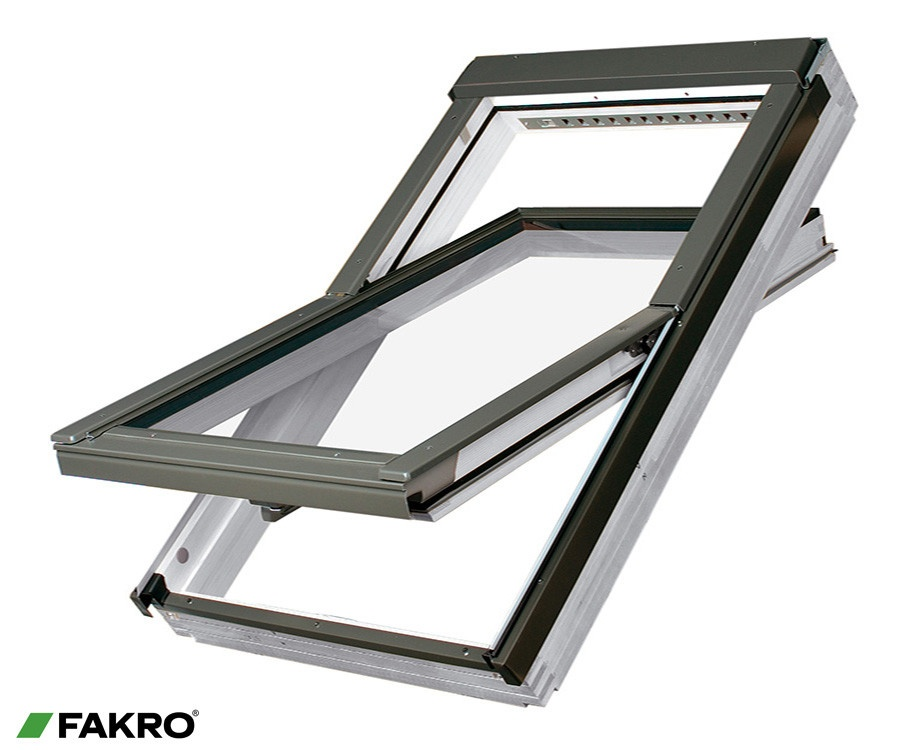 Fakro White Acrylic Centre Pivot Window - 55 x 78cm