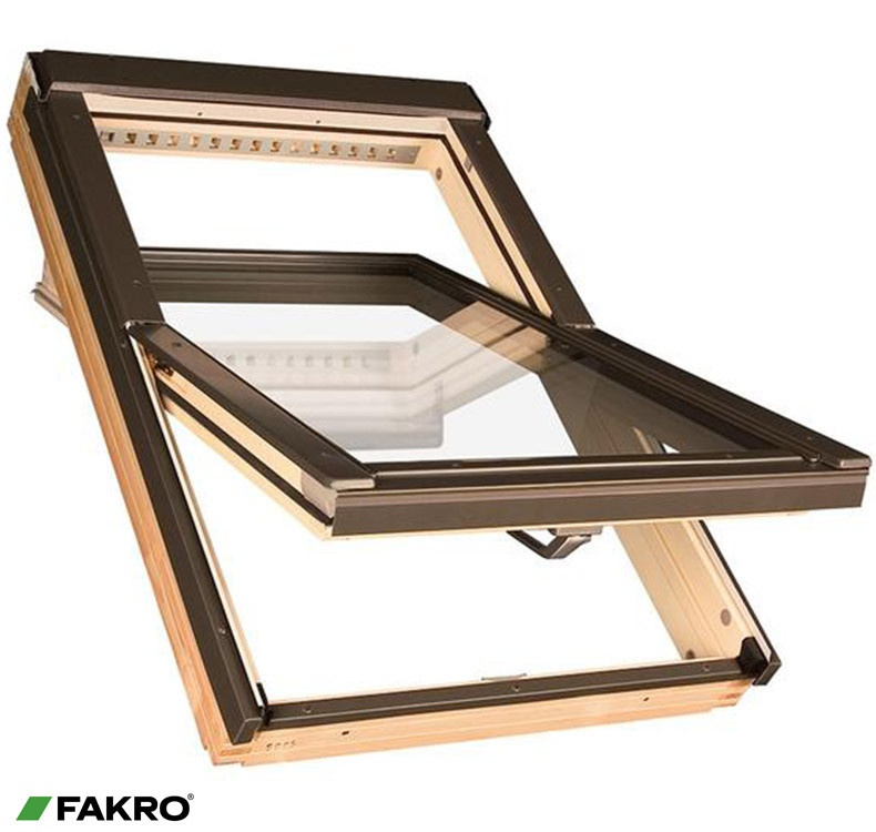 Fakro Pine Centre Pivot Window - 55 x 98cm