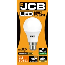 JCB LED A60 806lm Opal 10w