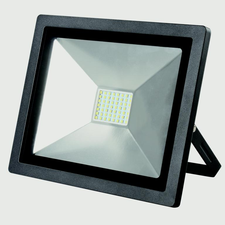 Dencon LED Slim Floodlight 3500 Lumens - Black 50w