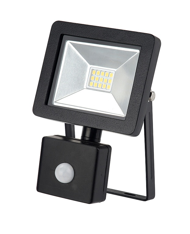 Dencon LED Slim Floodlight 800L IP44 - Black 10w