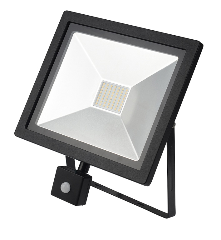 Dencon LED Slimline Floodlight With PIR IP44 3500L - 50w 6500K