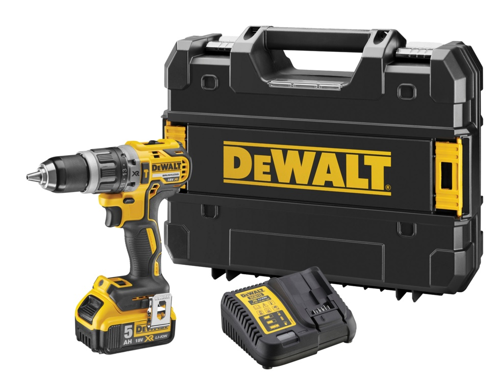 DeWalt 18V Combi Drill XR Brushless with 1 Battery