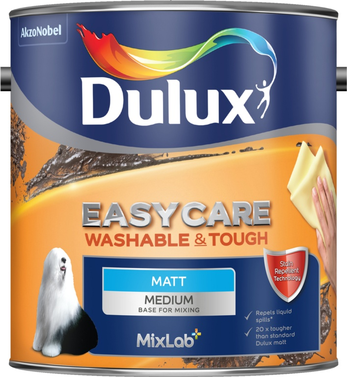 Dulux Easycare Base 2.5L - Matt Medium