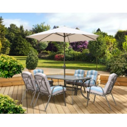 Pagoda Roma Dining Set With Parasol