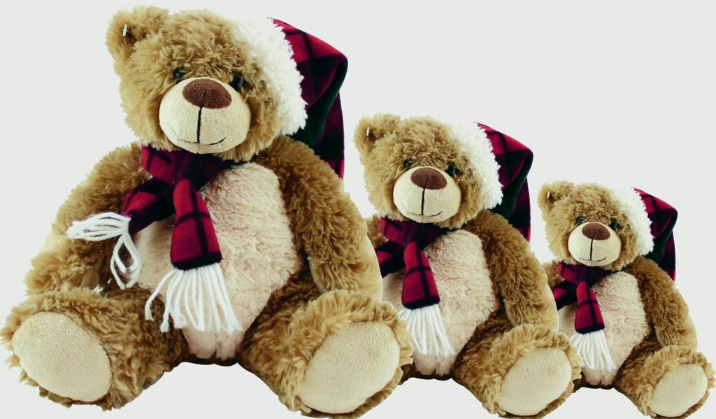 North Pole Christmas Teddy - 12""