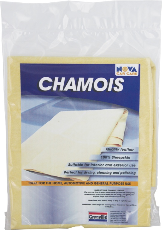 Granville Chemicals Premium Genuine Chamois Leather - 5 Sq Ft Wholeskin
