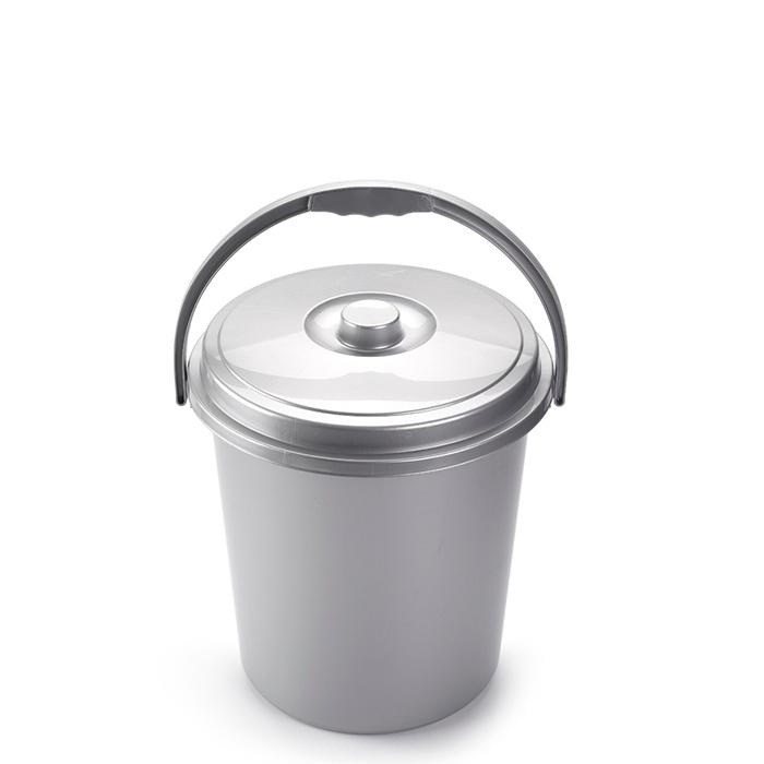 Plasticforte Silver Eco Dustbin - 21L