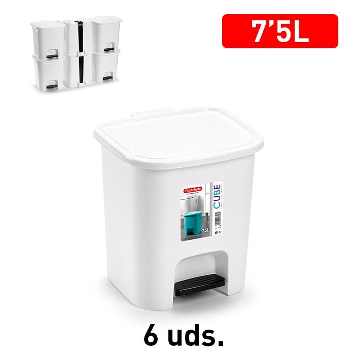 Plasticforte Pedal Bin 7.5L - White