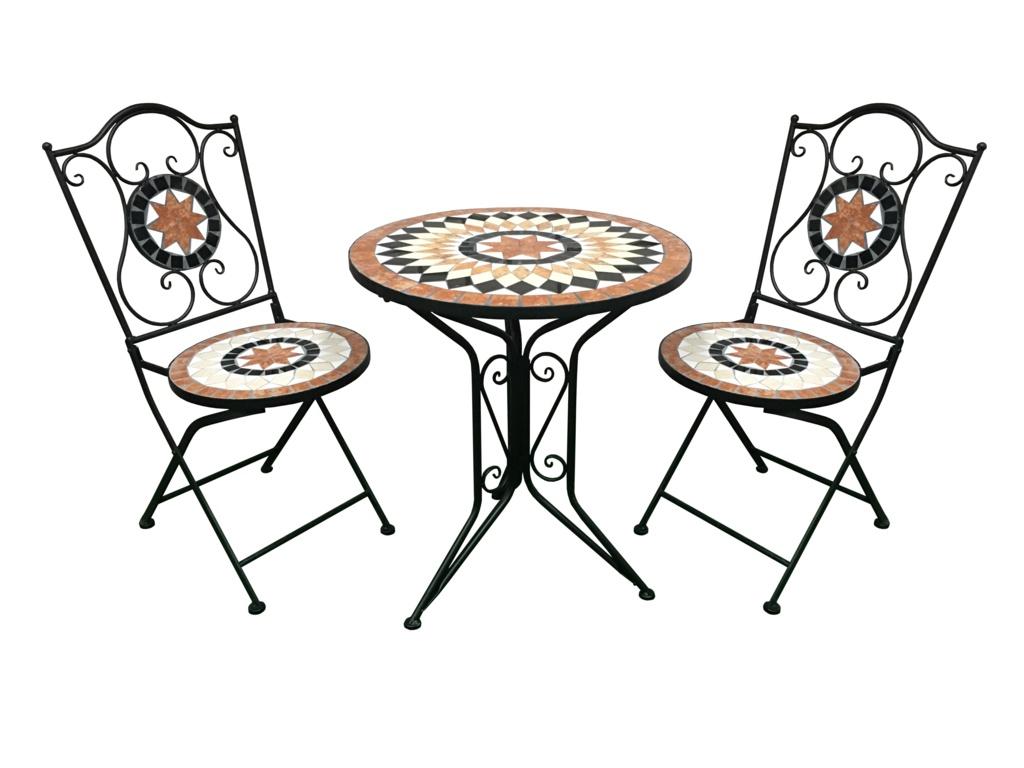 SupaGarden Mosaic Bistro Set - Burnt Orange