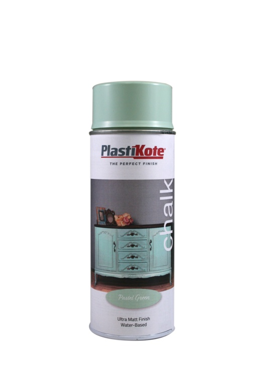 PlastiKote Chalk Spray Paint 400ml - Pastel Green