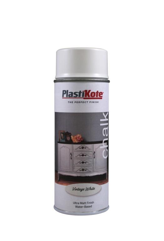 PlastiKote Chalk Spray Paint 400ml - Vintage White